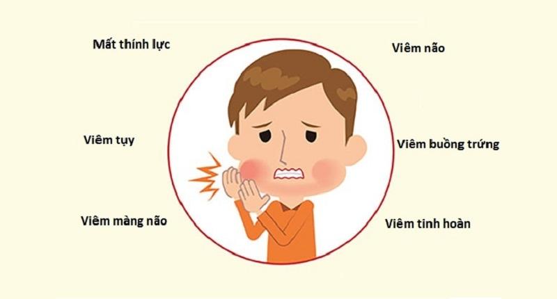 Biến chứng bệnh quai bị ở trẻ em